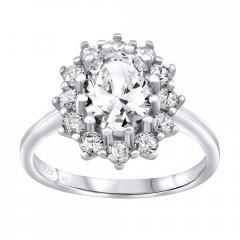 Stříbrný prsten CESARIA se zirkony