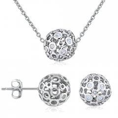 Stříbrná souprava náhrdelníku a náušnic ALLURA