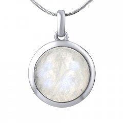 Stříbrný přívěsek s kulatým měsíčním kamenem