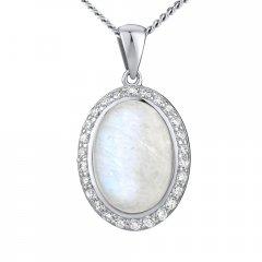 Stříbrný přívěsek s měsíčním kamenem