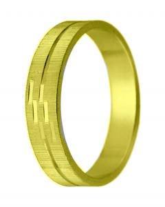 Snubní prsten K6 žluté zlato