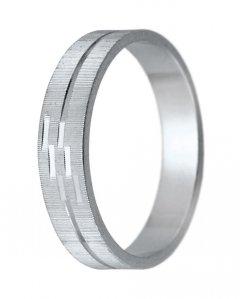 Snubní prsten K 6 bílé zlato