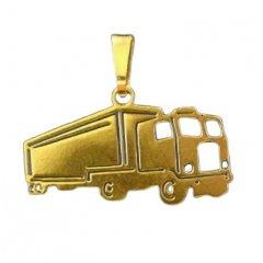 Zlatý přívěsek Kamion