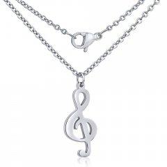 Ocelový náhrdelník Houslový klíč