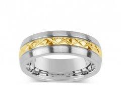 Ocelový snubní prsten KMR10006