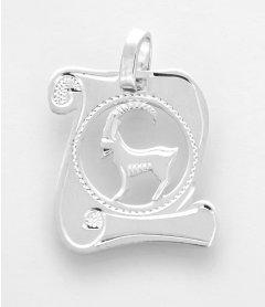 Stříbrný přívěsek znamení Kozoroh - pergamen