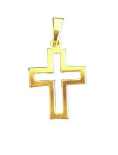 Zlatý přívěsek - křížek prořezávaný