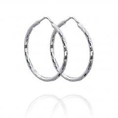 Efektní stříbrné náušnice kruhy 30 mm