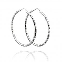Efektní stříbrné náušnice kruhy 40 mm