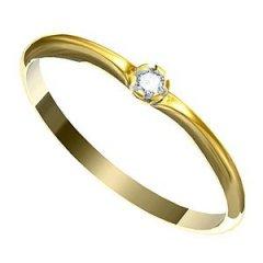 Zásnubní prsten s diamantem Leonka 001