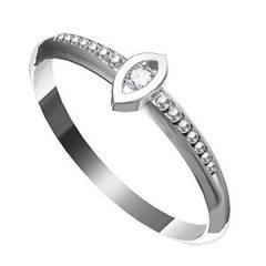 Zásnubní prsten s diamantem Leonka 007