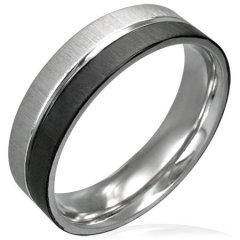 Ocelový prsten s černým pokovením