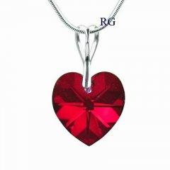 Přívěsek Swarovski CRYSTALLIZED™ srdce 18 mm červená