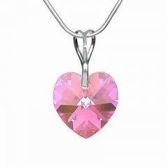 Přívěsek Swarovski CRYSTALLIZED™ srdce 18 mm růžová