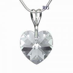 Přívěsek Swarovski CRYSTALLIZED™ srdce 18 mm Black Diamond