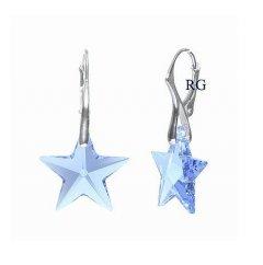 Náušnice Swarovski CRYSTALLIZED™ hvězdy modré