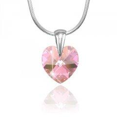 Přívěsek Swarovski CRYSTALLIZED™ srdce 14 mm růžová