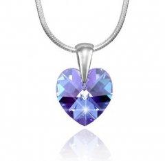 Přívěsek Swarovski CRYSTALLIZED™ srdce 14 mm modrý