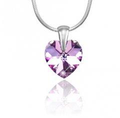 Přívěsek Swarovski CRYSTALLIZED™ srdce 14 mm fialový