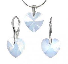 Souprava Swarovski CRYSTALLIZED™ srdce 14 mm White Opal