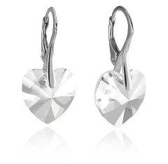 Náušnice Swarovski CRYSTALLIZED™ srdce 14 mm Crystal