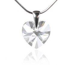 Přívěsek Swarovski CRYSTALLIZED™ srdce 14 mm Crystal