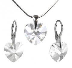 Souprava Swarovski CRYSTALLIZED™ srdce 14 mm Crystal