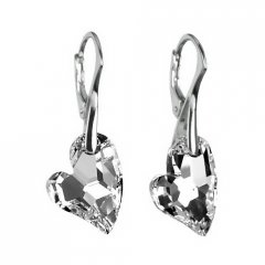 Náušnice Swarovski CRYSTALLIZED™ Devoted 2 U Heart Argent