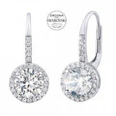 Luxusní stříbrné náušnice se zirkony Swarovski®