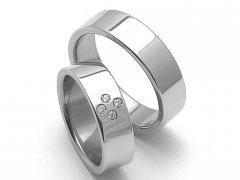 Ocelové snubní prsteny SRZ6054