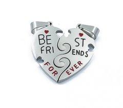 Ocelové přívěsky Best Friends
