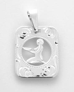 Stříbrný přívěsek znamení Panna - destička