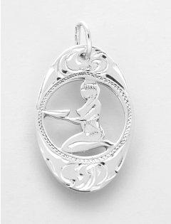 Stříbrný přívěsek znamení Panna ovál