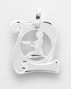 Stříbrný přívěsek znamení Panna - pergamen