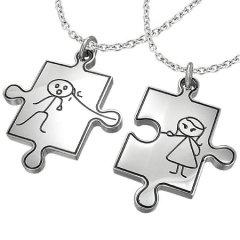 Přívěsky pro pár - puzzle s postavičkami