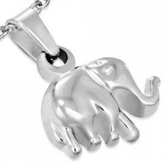 Ocelový přívěsek - malý slon