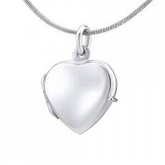 Stříbrný otvírací medailon srdce hladké 16 mm