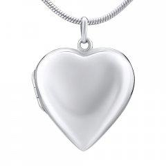 Stříbrný otvírací medailon srdce hladké 26 mm
