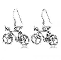 Stříbrné náušnice - jízdní kola