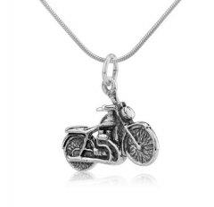 Stříbrný přívěsek - motocykl