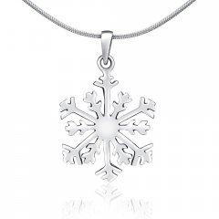 Stříbrný přívěsek - sněhová vločka