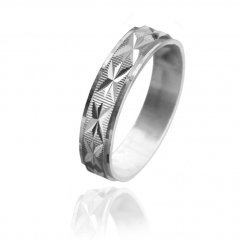 Stříbrný snubní prsten STAR