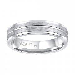 Stříbrný snubní prsten AVERY