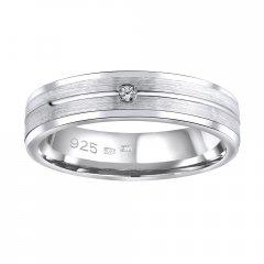 Stříbrný snubní prsten AVERY se zirkonem