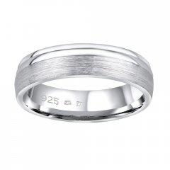 Stříbrný snubní prsten AMORA