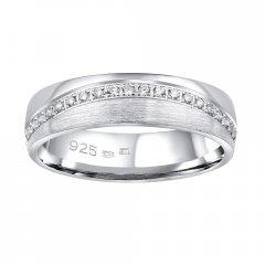 Stříbrný snubní prsten GLAMIS se zirkony