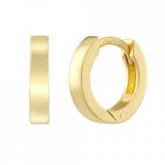 Zlaté náušnice kruhy 13 x 5 mm