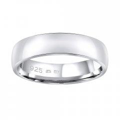 Stříbrný snubní prsten POESIA