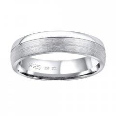 Stříbrný snubní prsten PARADISE