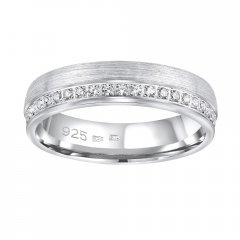 Stříbrný snubní prsten PARADISE se zirkony